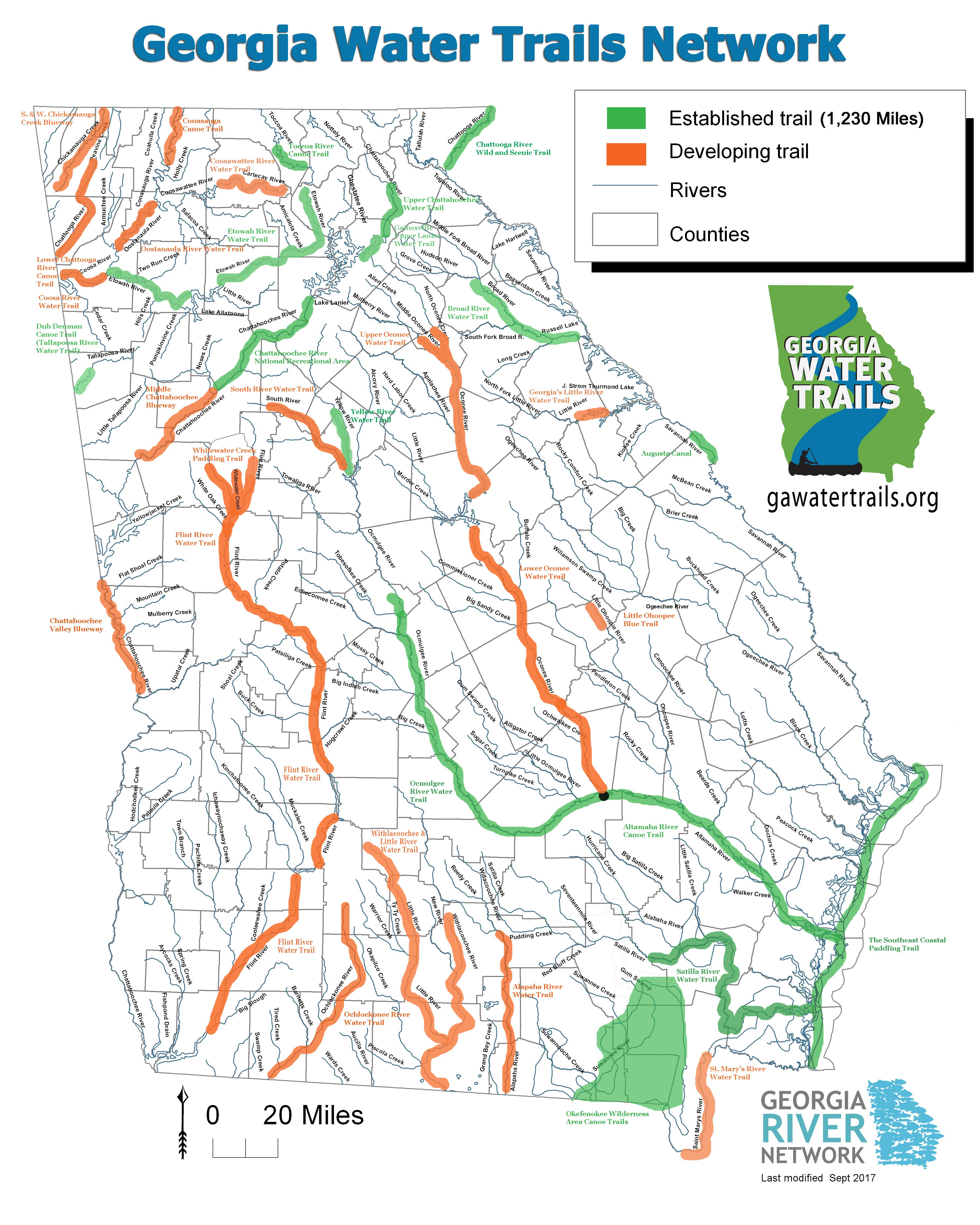 Gawatertrailsmapsept2017webg ga water trails map sept 2017small sciox Images