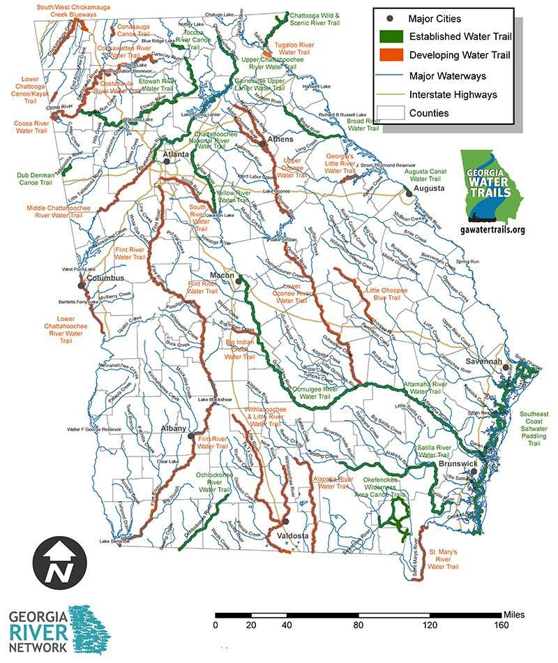 GA Water Trails Map