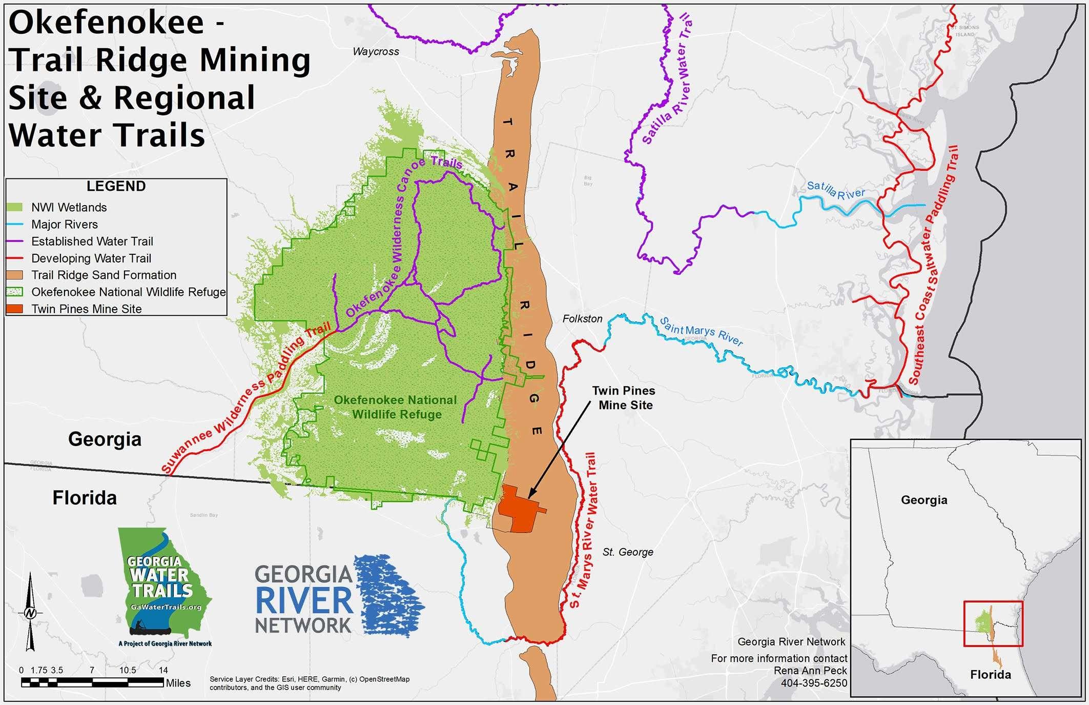 Okefenokee Trail Ridge Minine Site & Regional Water Trails